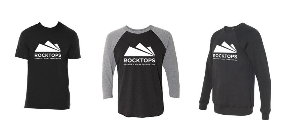 rocktops merchandise from the website