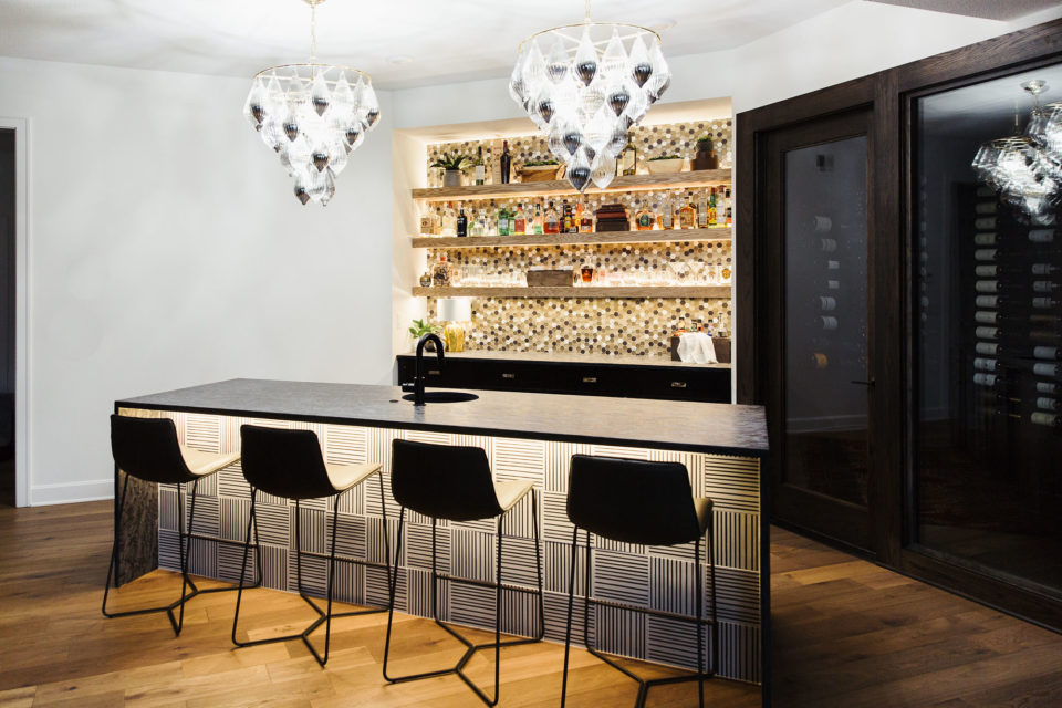bar with countertop