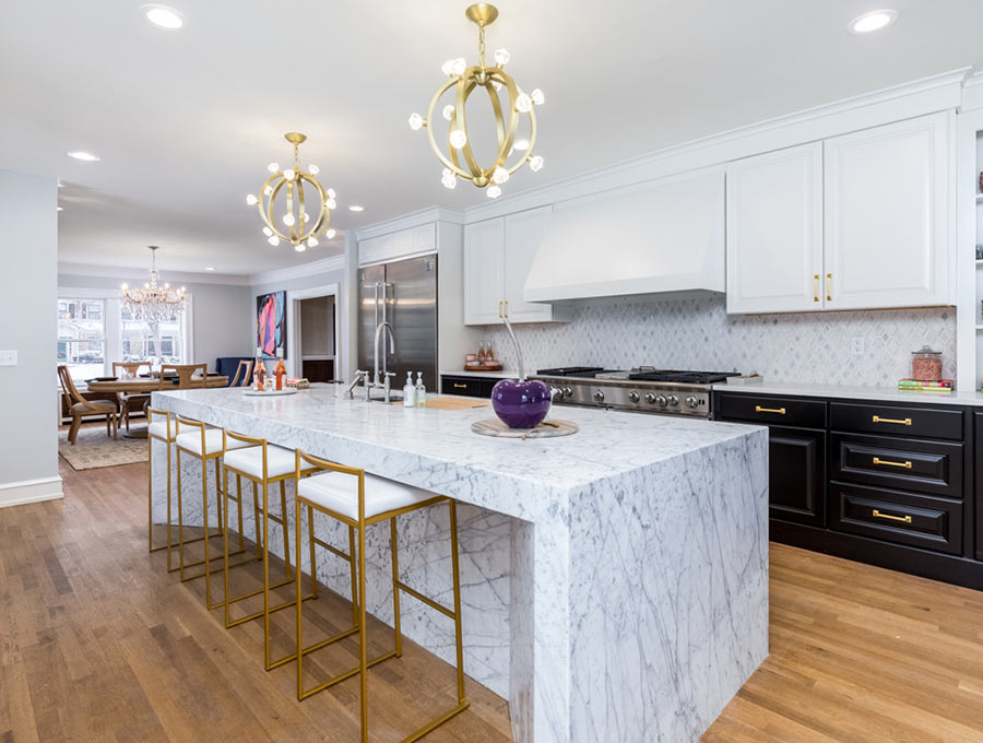 carrera marble in kitchen
