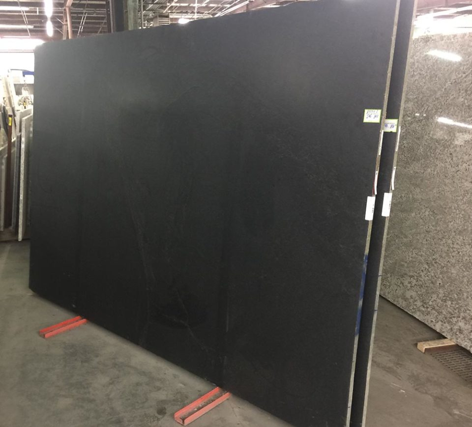 slab of black granite