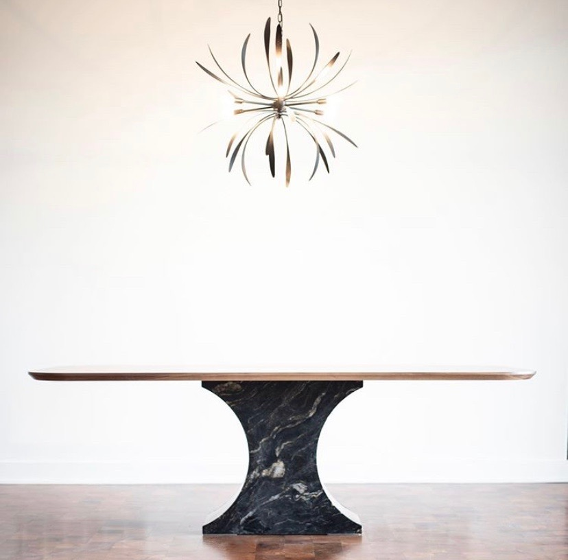titanium brushed granite table