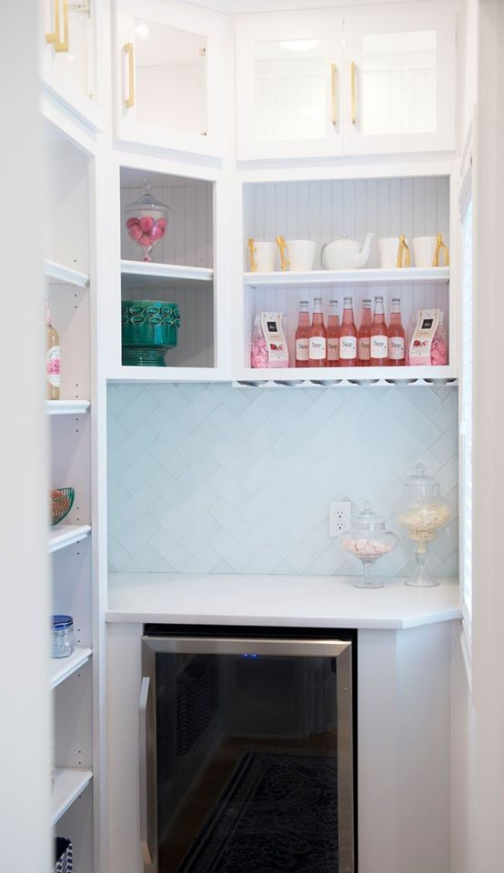 pantry with marble