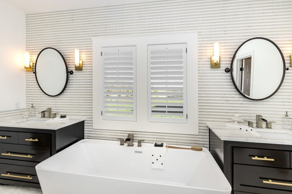 bathroom his and her vanity