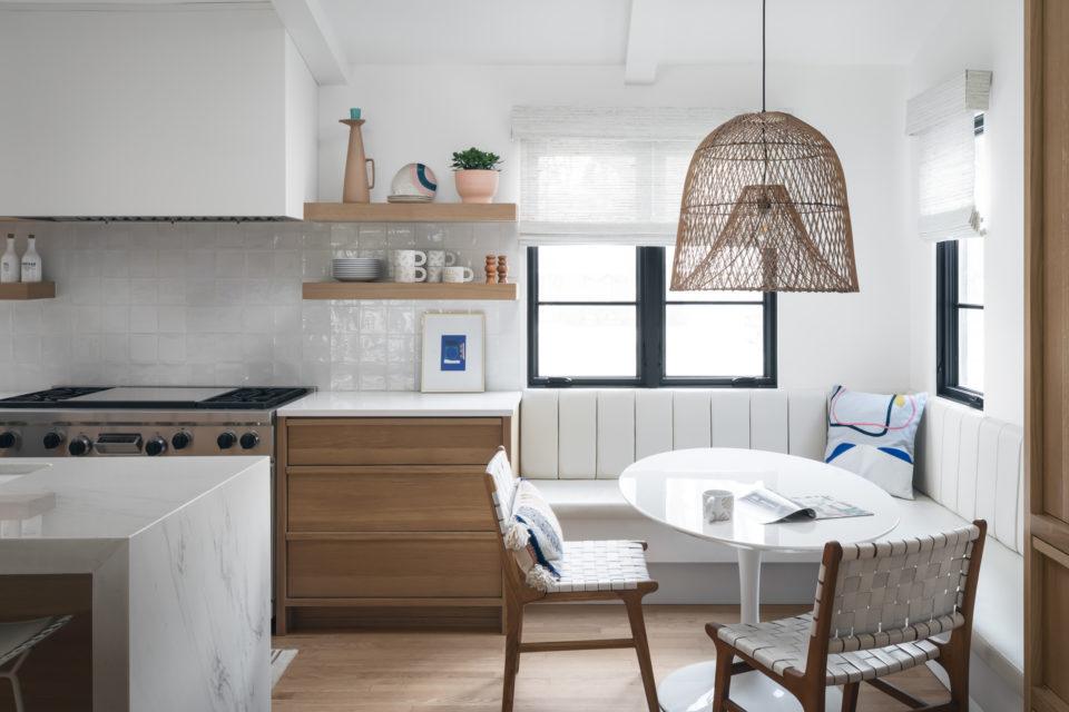 kitchen reading nook