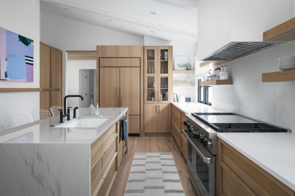 kitchen island and surround