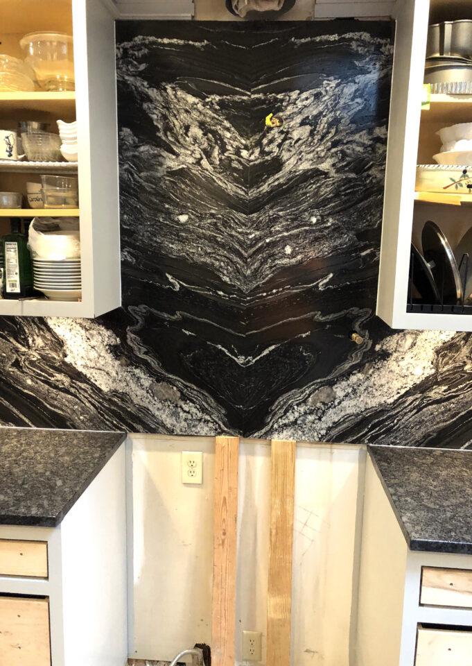 Rocktops Black Forest Brushed kitchen countertops