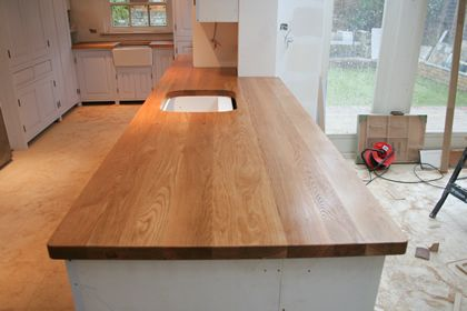 plank grain countertops