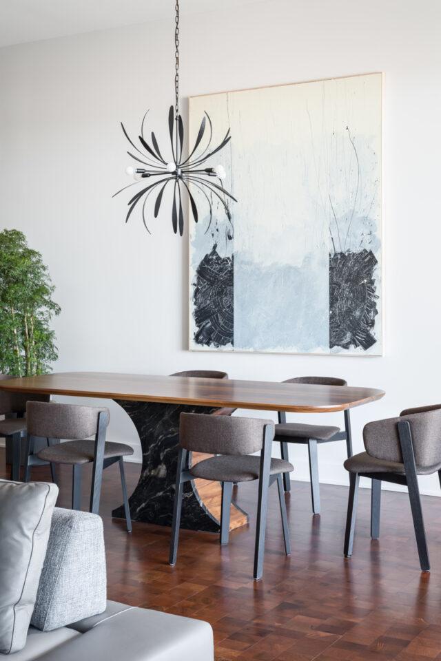 titanium brushed granite dining table base