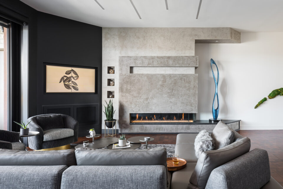 Fireplace- Nero Orion Honed Granite