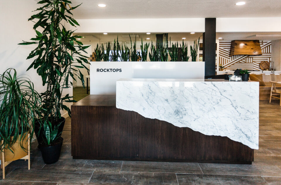 Carrara Marble countertops front desk